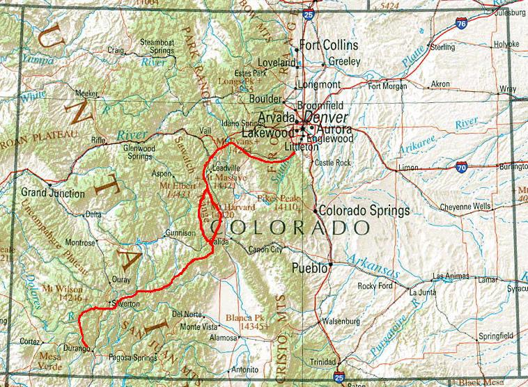 Colorado Karte.Hamburger Wanderjung